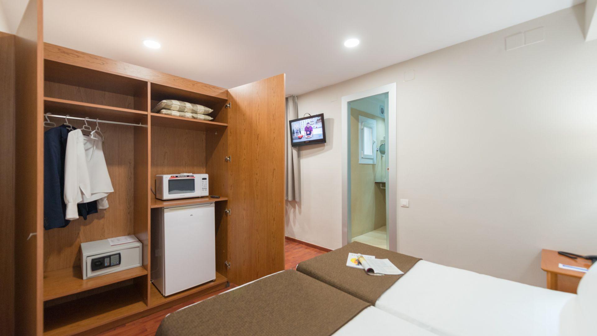 Chambre double avec cuisine